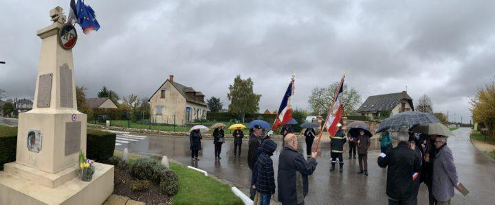 Cérémonie du 11 novembre sous la pluie